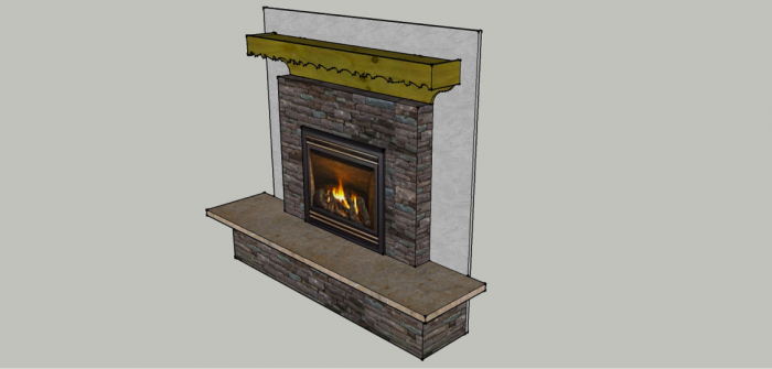 Completed Fireplace Mantle