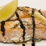 Baked Salmon with Balsamic Vinegar