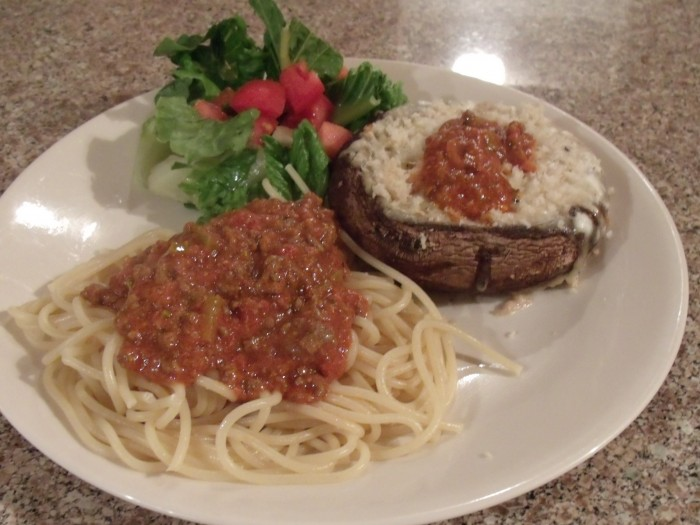 Cheese Stuffed Portobello Mushrooms