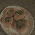Creamy Spinach Stuffed Salmon