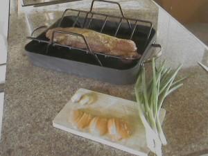 Apricot Ginger Glazed Pork Tenderloin