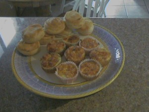 Egg Cheese Muffins with Tomato, Green Chilli's, Bacon