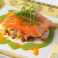 How long do you cook salmon steaks in the oven for Temperature to cook fish in oven
